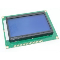 GRAPHIC LCD 128 X 64 DOTS C/W BLUE BACKLIGHT FOR ARDUINO OR RASPBERRY PI